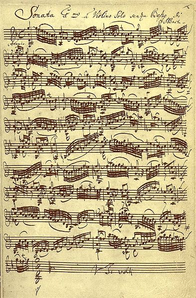 Bach violin sonata