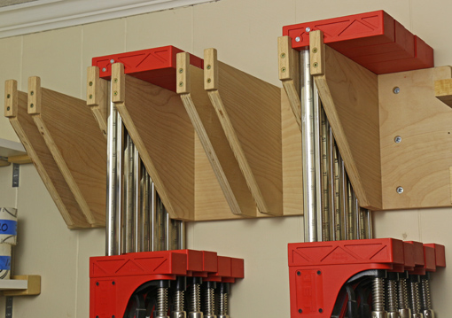 rack for parallel jaw clamps