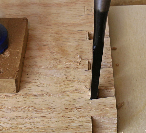 chopping dovetails