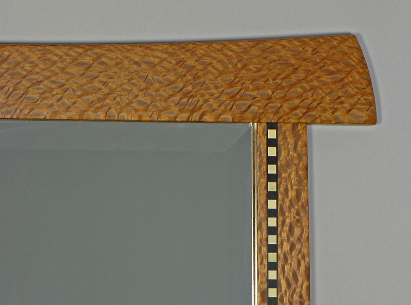 lacewood mirror detail
