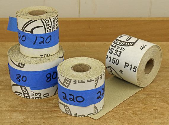 PSA sanding rolls