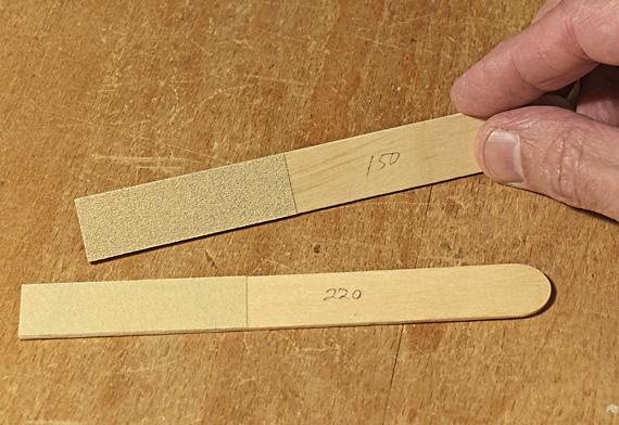 sanding sticks