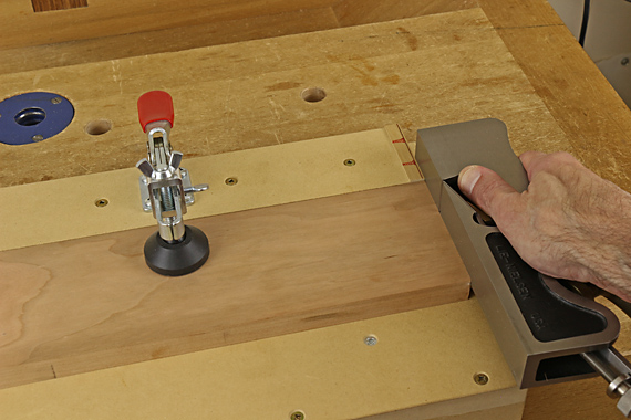 jig for trimming tenon shoulders
