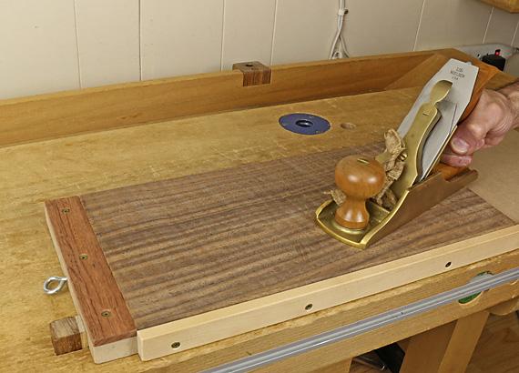 handplaning thin wood