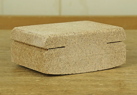 curved cork sanding block
