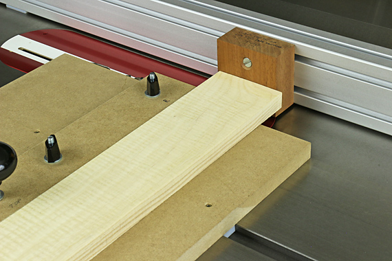 tenon shoulders on the table saw