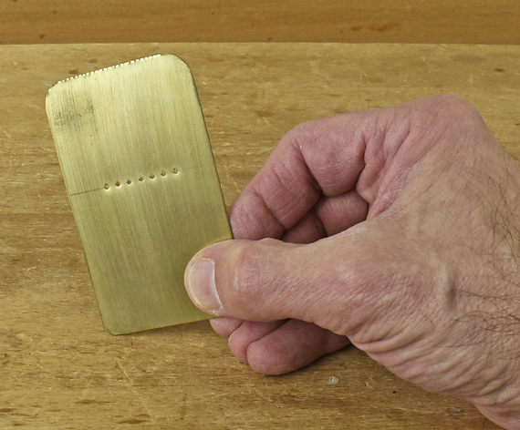 pinholes for winding sticks