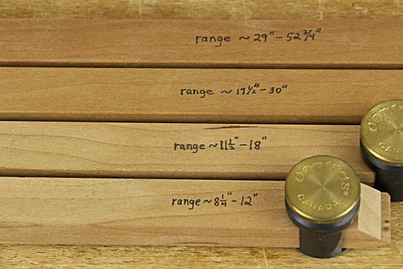 range of pinch rods