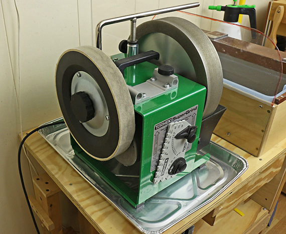 Tormek with felt wheel
