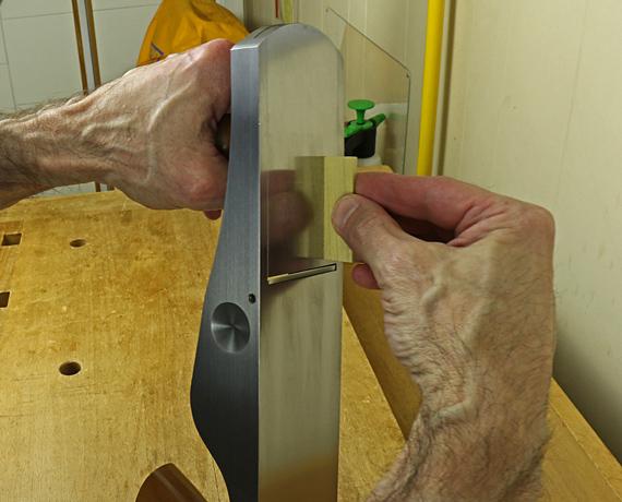 testing plane blade depth