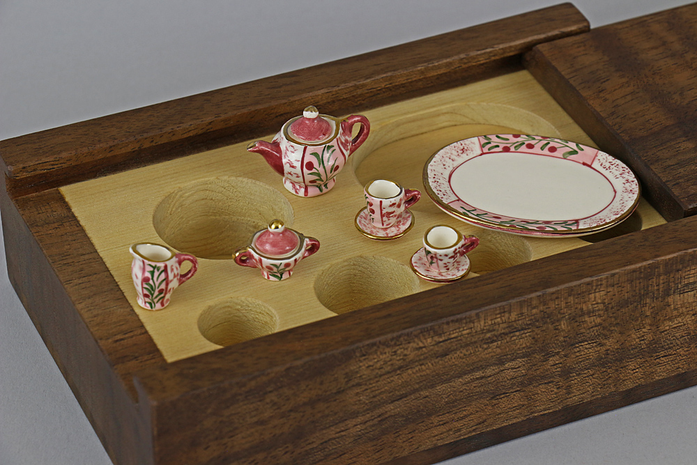 miniature tea set box